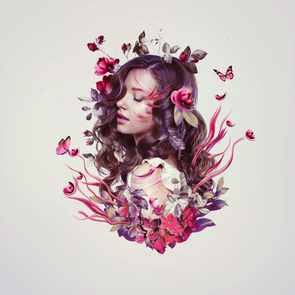 How to Create a Floral Portrait Photo Manipulation in Adobe Photoshop
