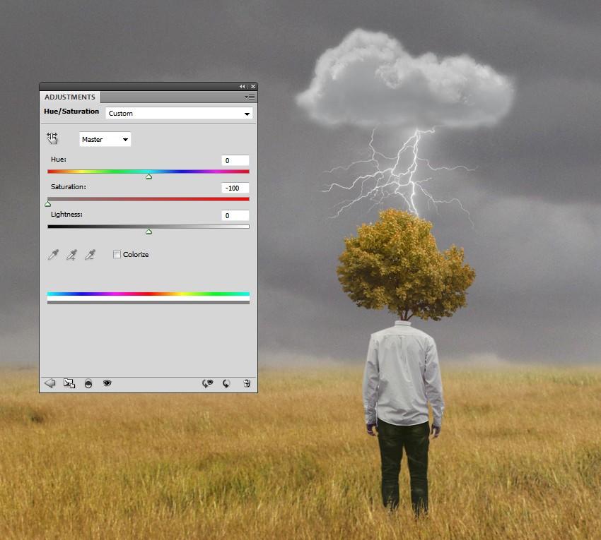 lightning hue saturation
