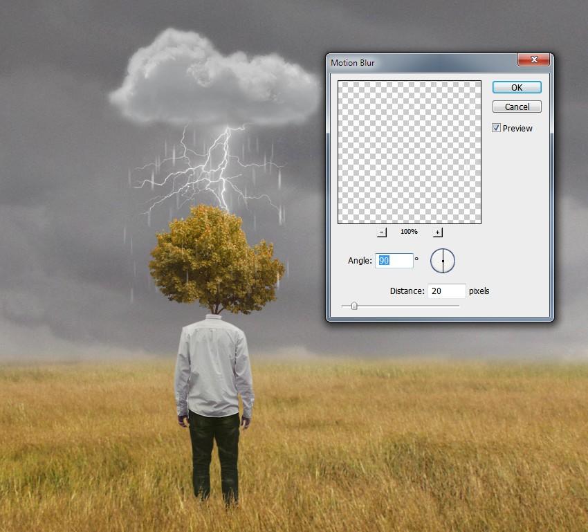 rain motion blur