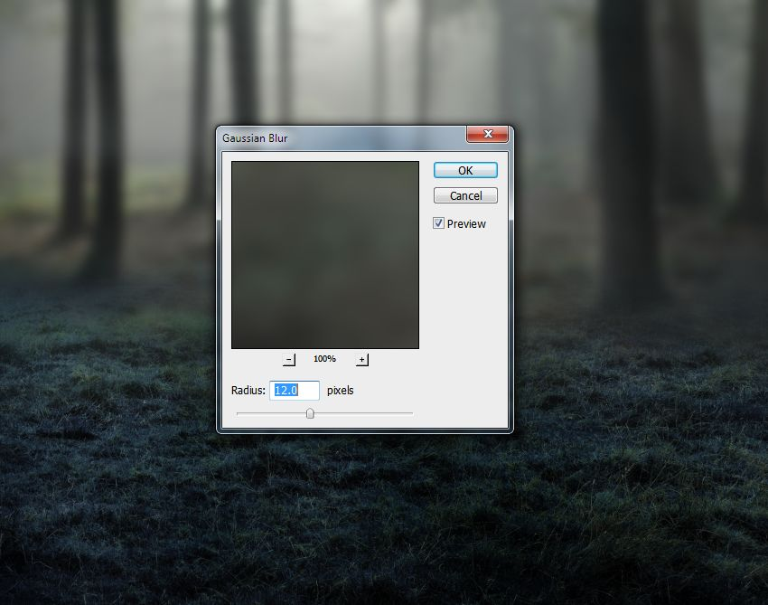 forest gaussian blur