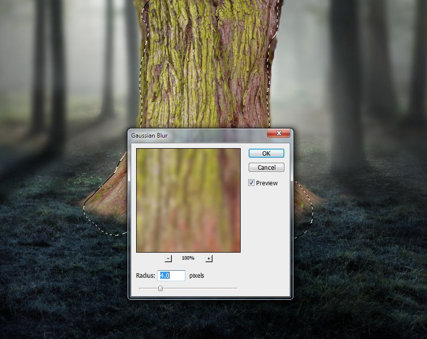 tree gaussian blur