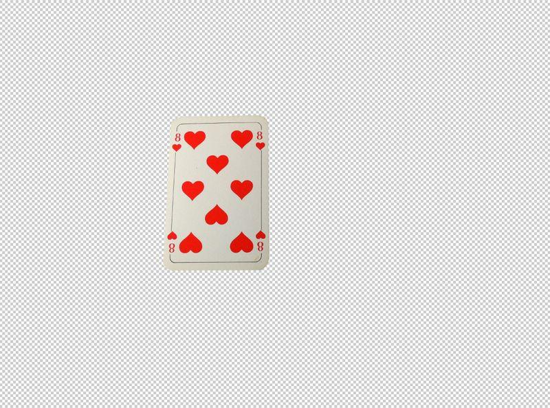 isolate hearts card
