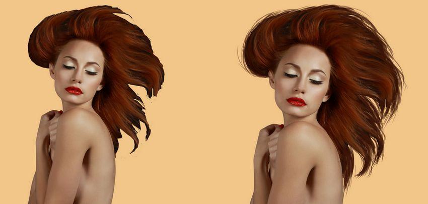 model painting hair 1