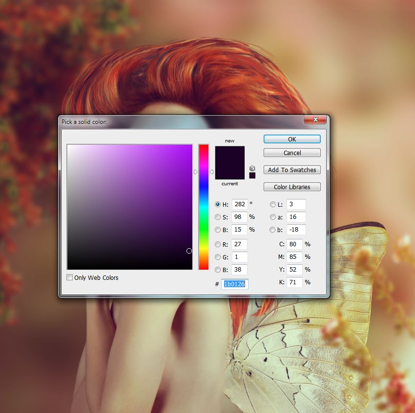 color fill layer
