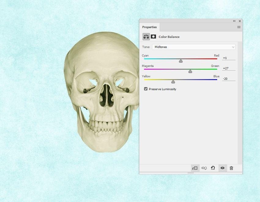skull color balance