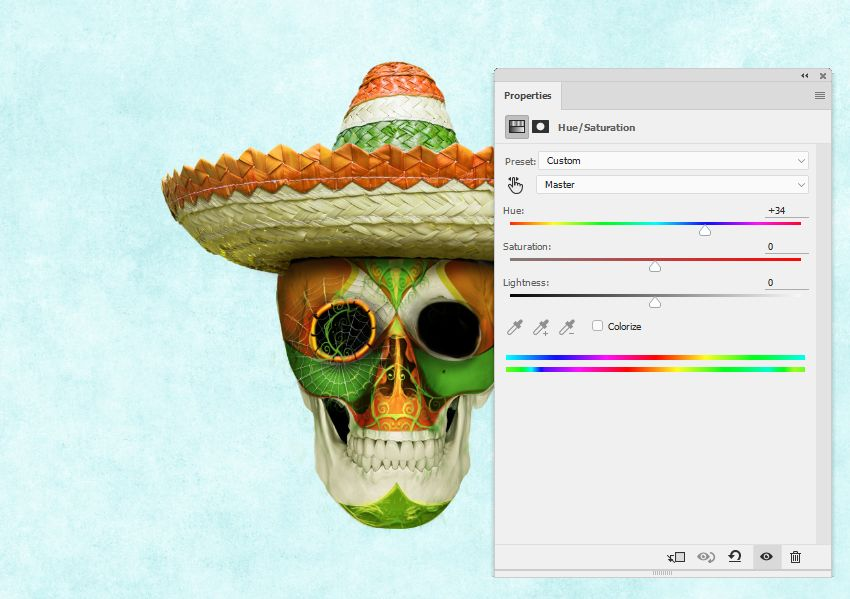 hat hue saturation master