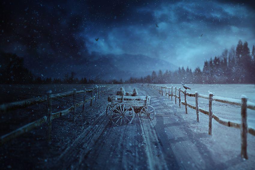 Tạo một mùa đông ảnh nông thôn Manipulation Scene Với Photoshop