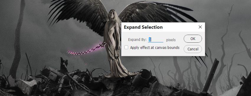mở rộng lựa chọn thanh kiếm