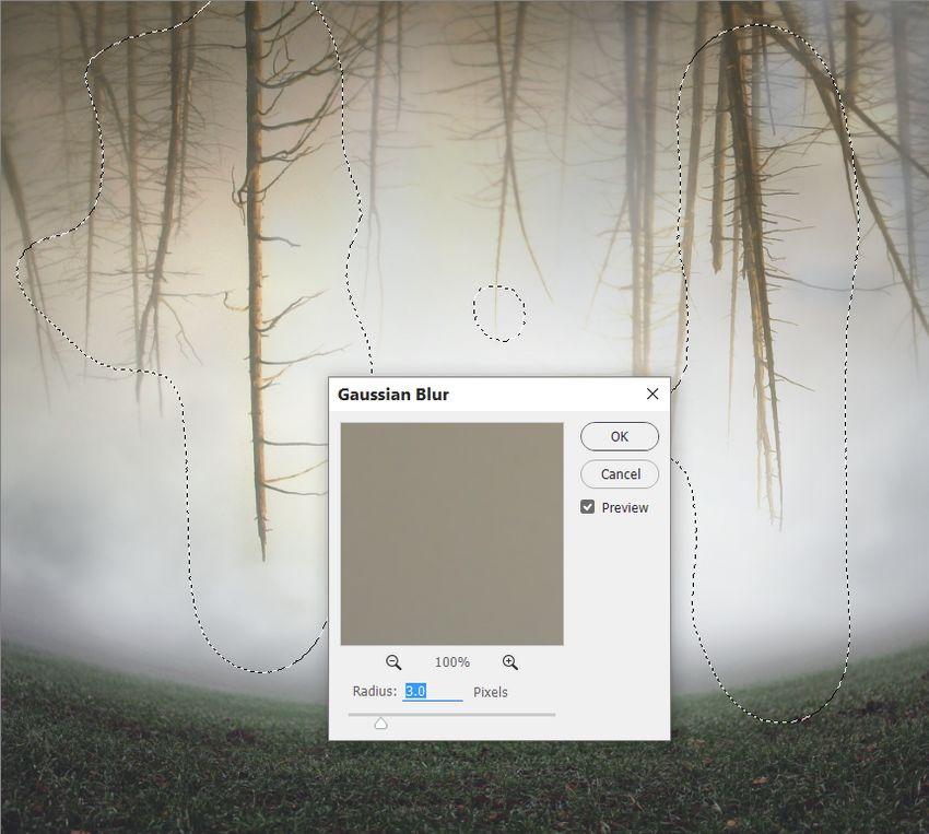 trees gaussian blur