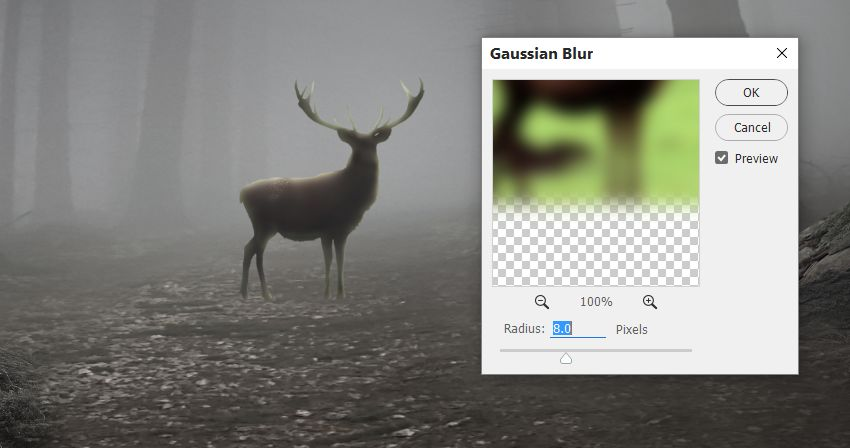 deer gaussian blur