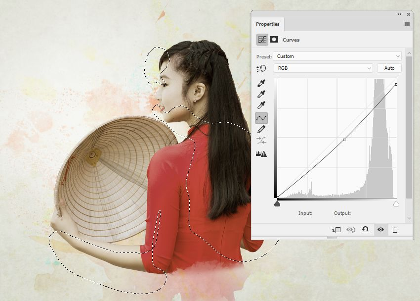 model curves adjustment layer
