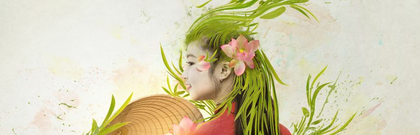 How to Create an Abstract Vietnamese Woman Portrait in Adobe Photoshop