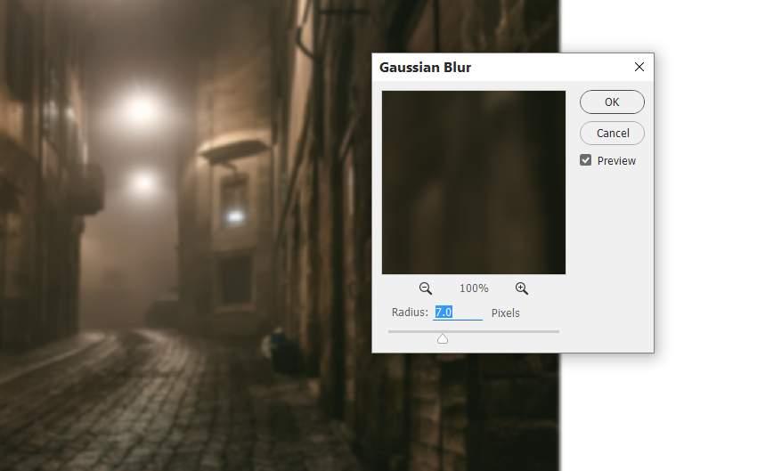 street 1 gaussian blur