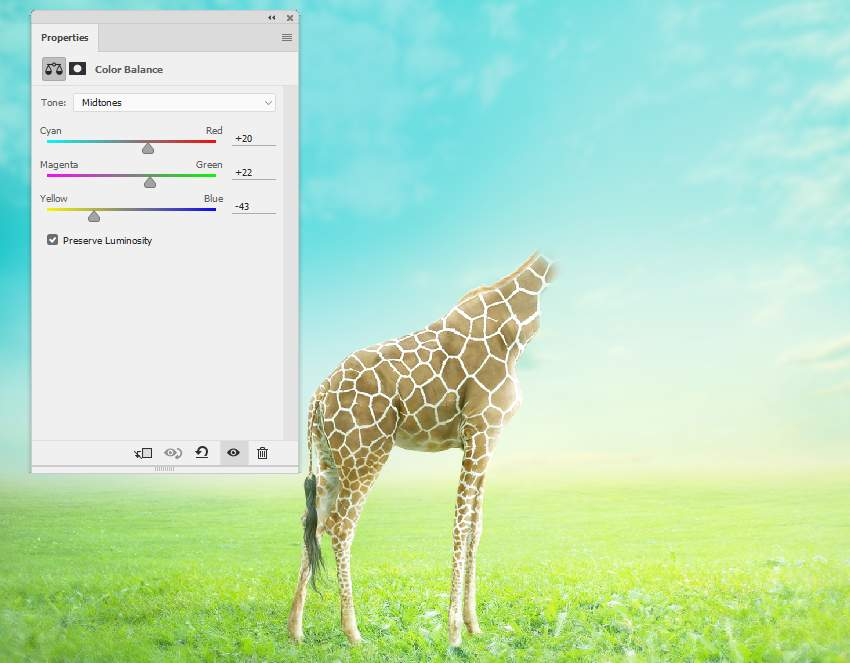 giraffe color balance