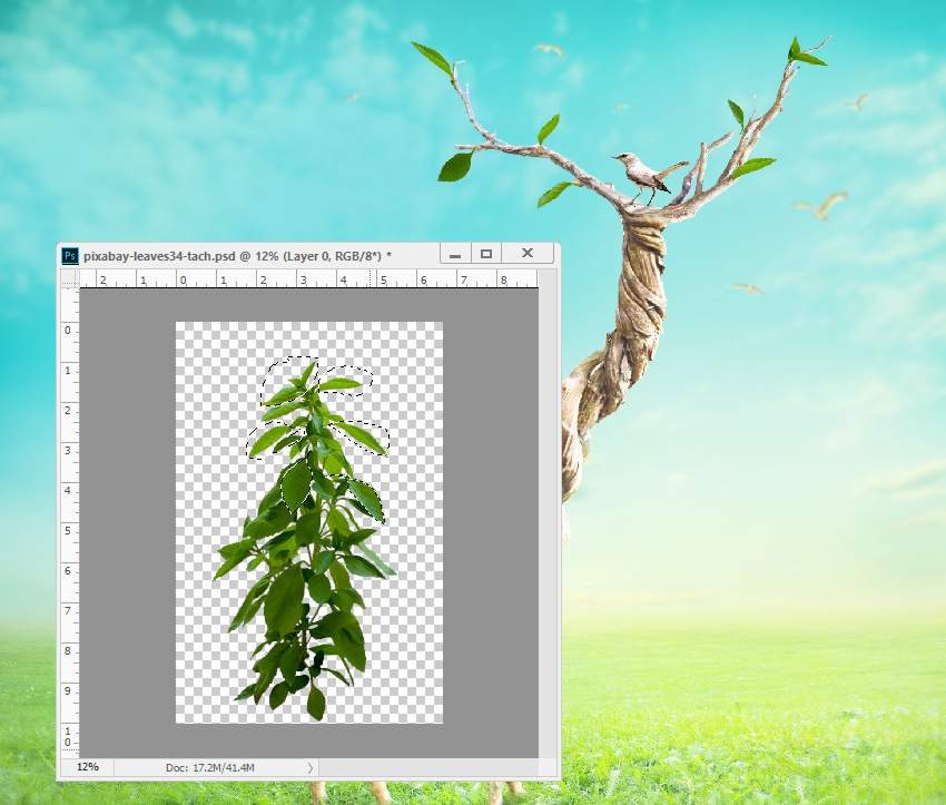 add leaves