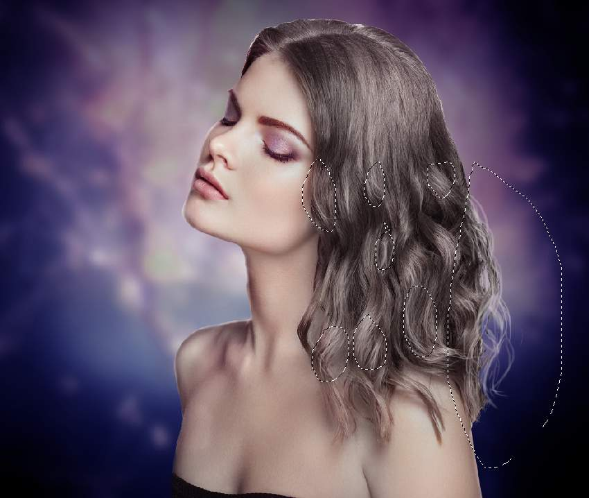 paint model hair