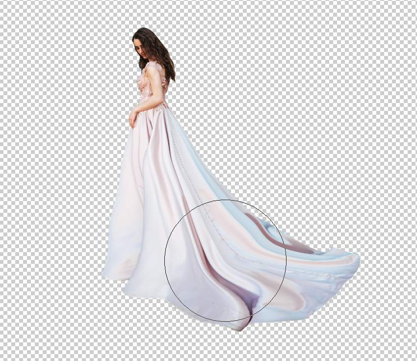 fantasy digital art  - model dress liquifying