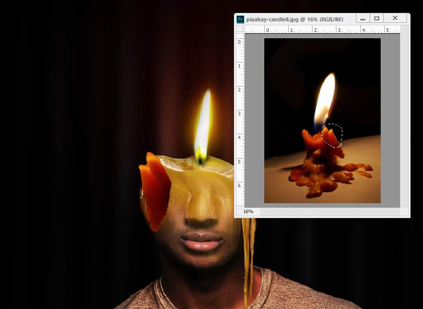 photo effect - add wax 1 part 1