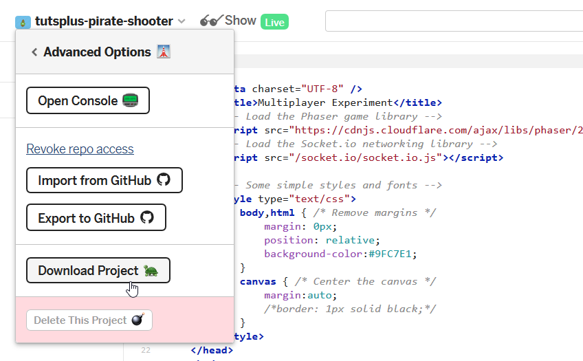 Create a Multiplayer Pirate Shooter Game: In Your Browser