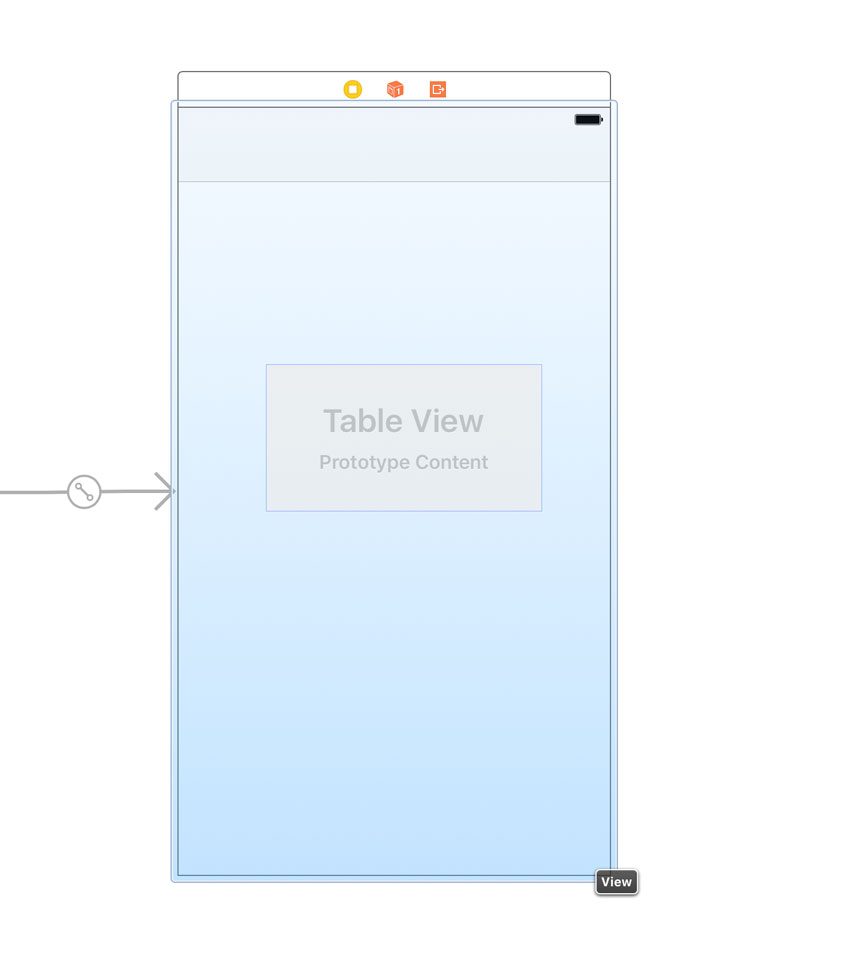 Adding a Table View