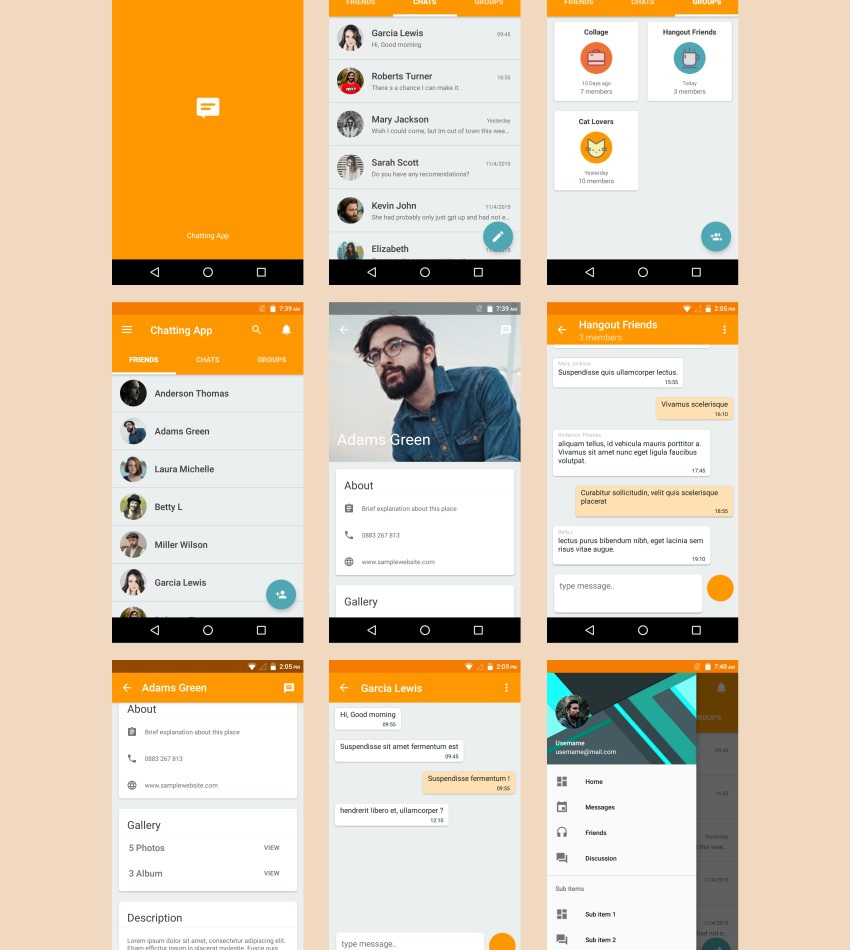 7 android templates to inspire your next project android material ui template pronofoot35fo Images