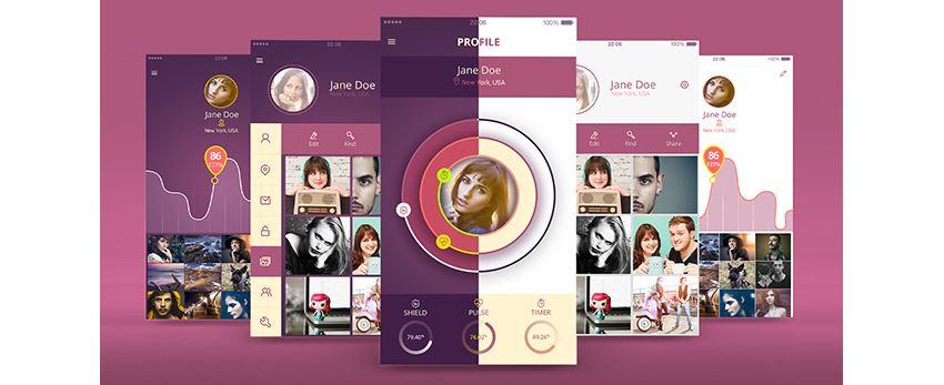 Profile UI kit light and dark themes