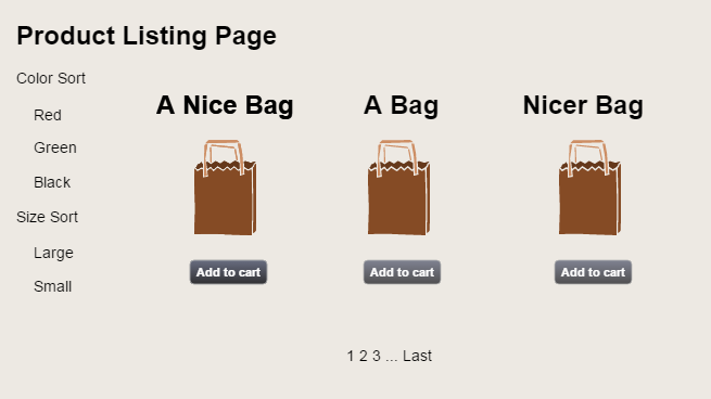 Category Page Wireframe