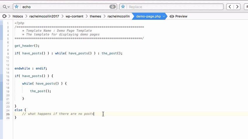 Single line PHP comment