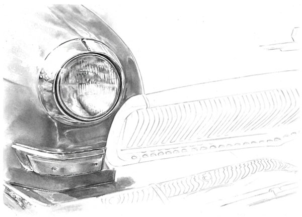 Now we have worked on the inner-headlight we are really starting to build a proper rendered image