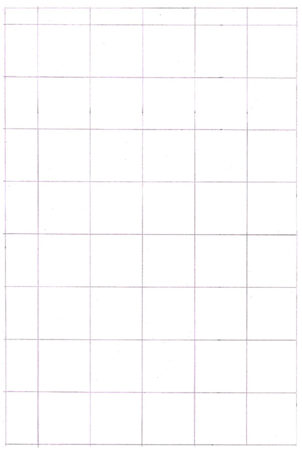 Your grid should look like this once drawn out