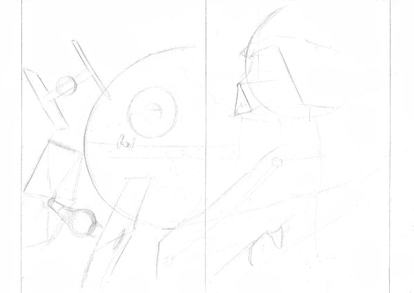 Rough in some of Darth Vaders details but as before keep these loose at this stage
