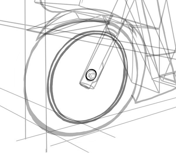 Этот маленький круг будет нашим центром колес
