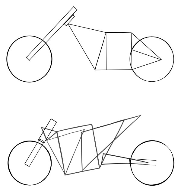 how to draw vehicles  motorcycles