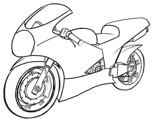 motorcycle drawing pics  How to Draw Vehicles: Motorcycles