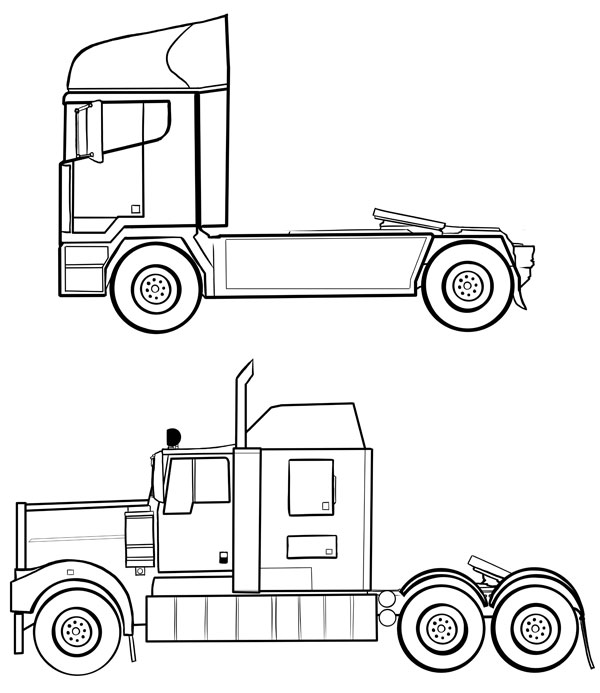 How To Draw Vehicles Trucks Hgvs