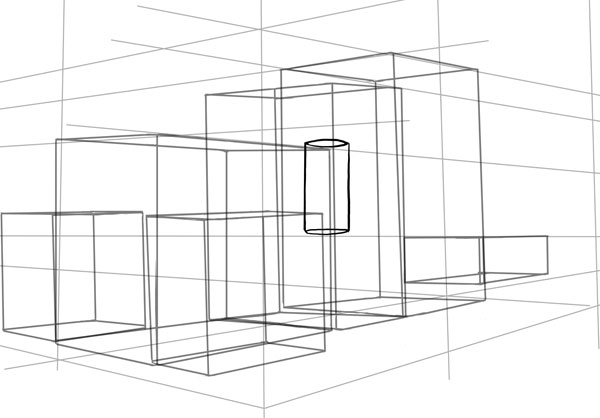 Take time to consider perspective when drawing your cylinder