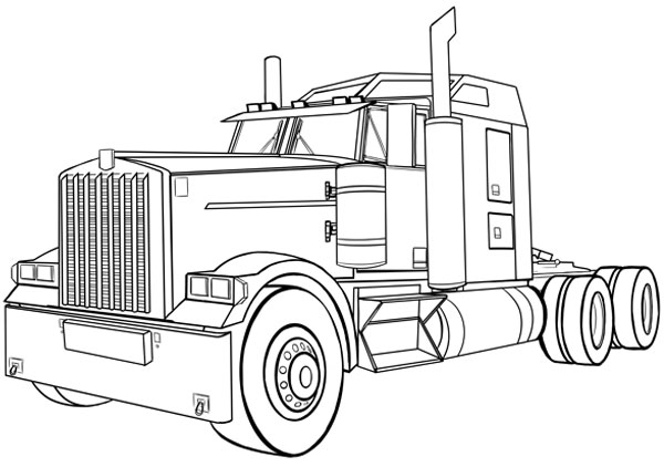 Food Basic Trailer Coloring Page Printable