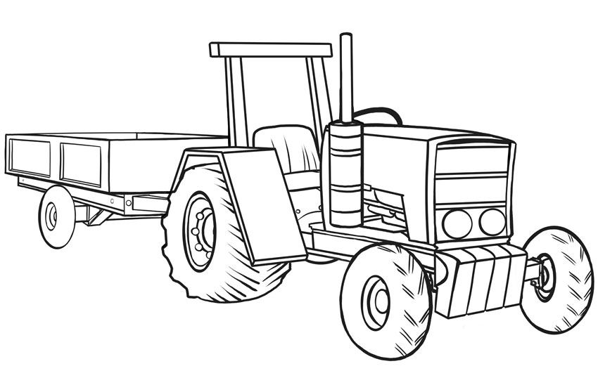 How To Draw Vehicles Tractors