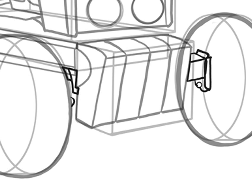 how to draw vehicles step by step