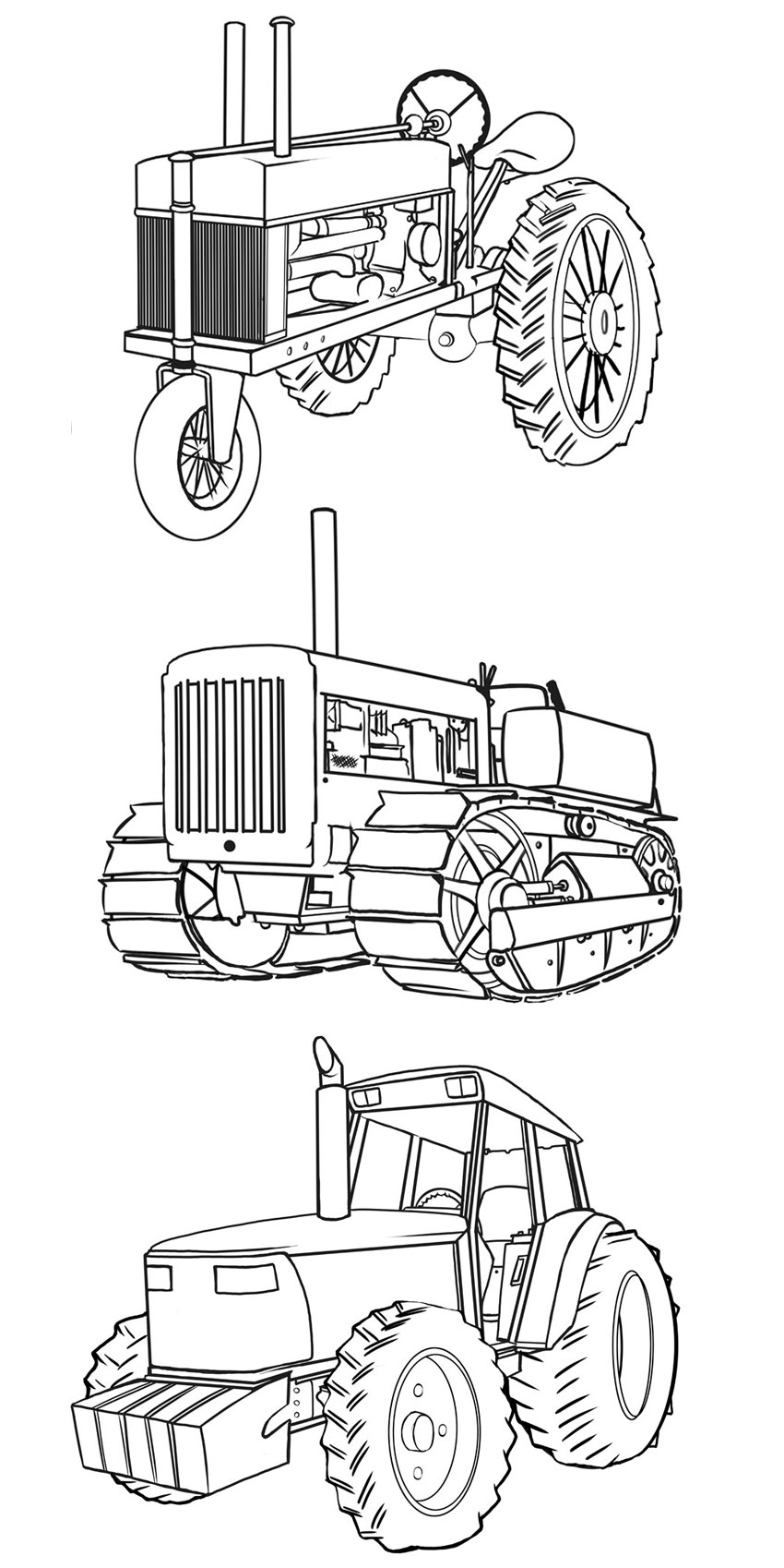A comparison of our tractors through the ages in more detail