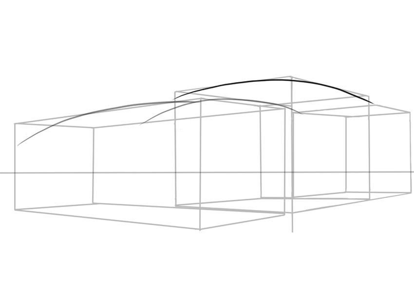 Еще одна кривая составляет часть крыши