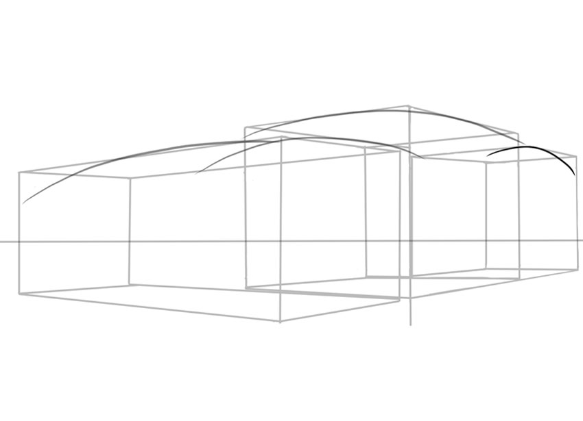 A curvy slippery shape is essential when designing or drawing a sports car