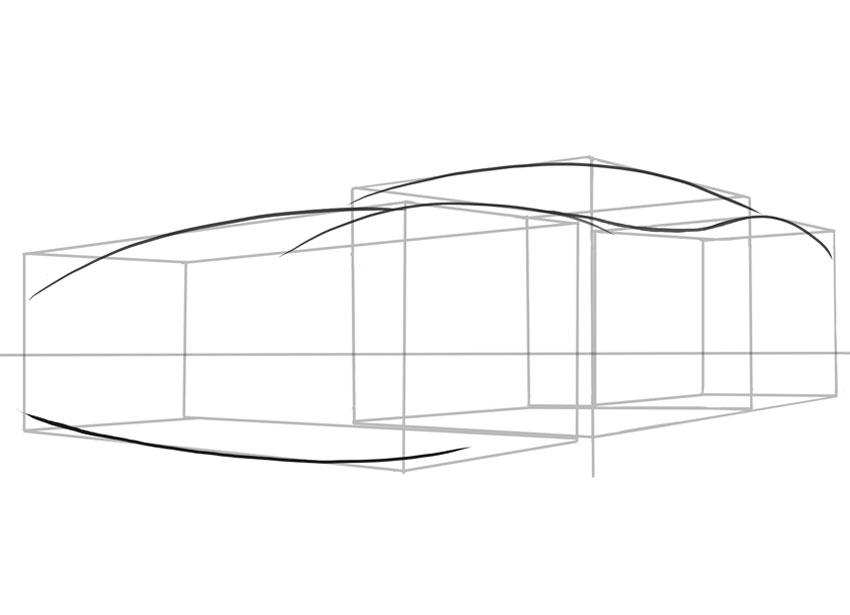 Низкие спортивные автомобили, подобные этому, имеют большие передние спойлеры