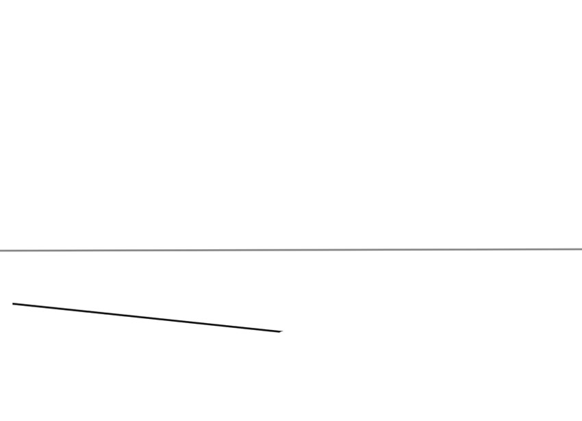 Теперь начните строить свой гид с помощью другой простой линии
