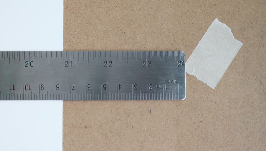 A steel ruler will help you place the vanishing points