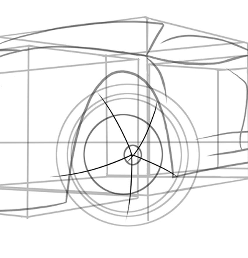 Звезда с пятью спицами - идеальное руководство для колесного диска