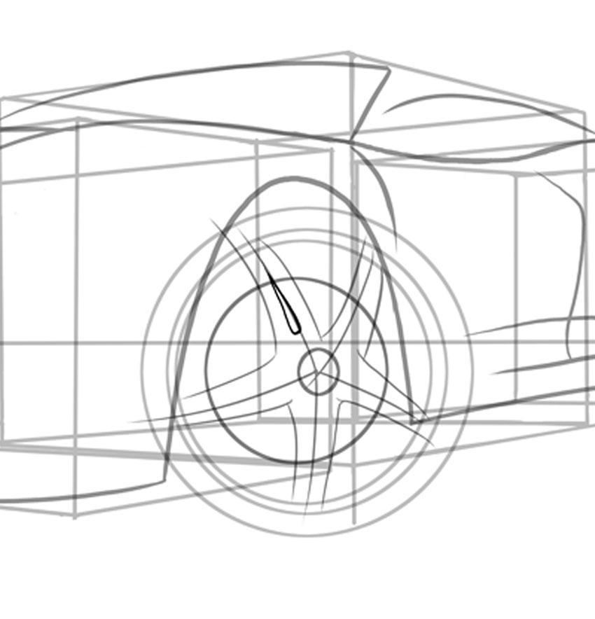 Форма слезной капли поможет вам с внутренними спицами нашего колеса