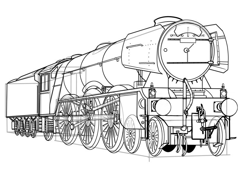How To Draw A Classic Steam Lo otive From Scratch 0qkfgr on inside a train locomotive