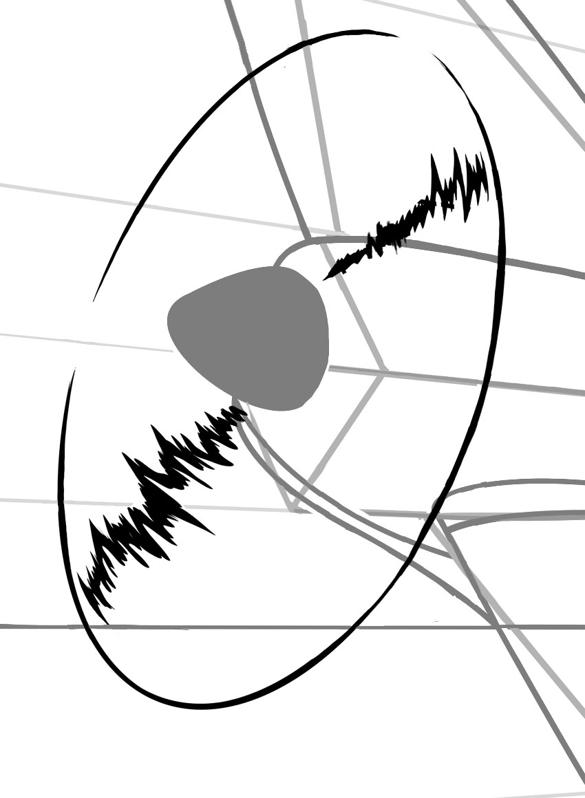 These lightning like lines can be a simple way of describing motion in illustration
