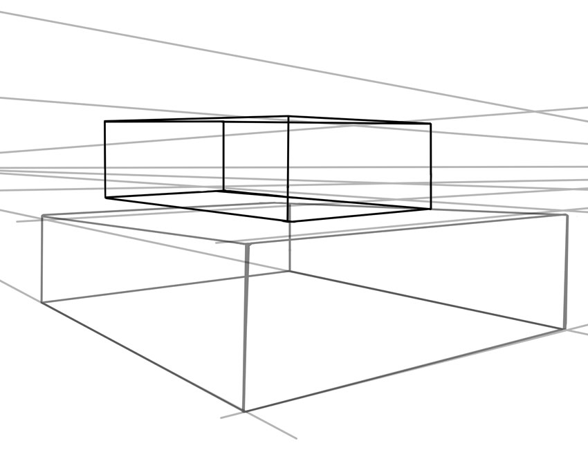Place a second smaller box on top of the first one